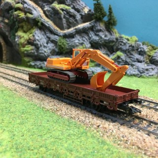 Wagon plat travaux -HO-1/87-MARKLIN 00753 DEP17-362