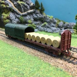Wagon bâché avec chargement Sncf -HO-1/87-JOUEF 6753 DEP2-112