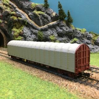Wagon bâché FS -HO-1/87-RIVAROSSI HR6003 DEP2-76