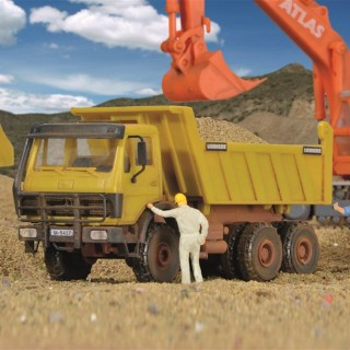 Camion benne 3 essieux-HO-1/87-KIBRI 14053