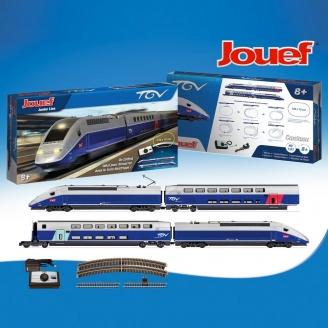 Coffret de démarrage SNCF, TGV Duplex Gris / Bleu Ep VI-HO 1/87-JOUEF HJ1061