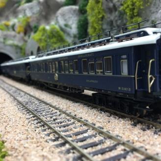 Coffret 3 voitures Simplon-Orient Express Ep II -HO 1/87-TRIX 23220