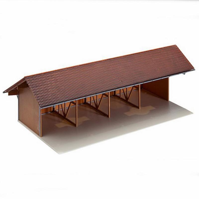 hangar agricole ho faller 130521 modelisme ferroviaire. Black Bedroom Furniture Sets. Home Design Ideas