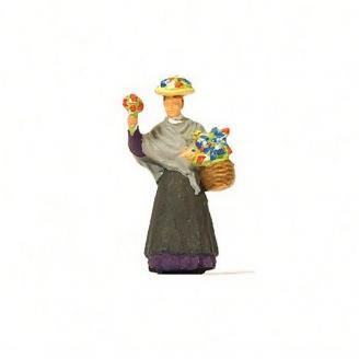 Vendeuse de fleurs-HO 1/87-PREISER 28106
