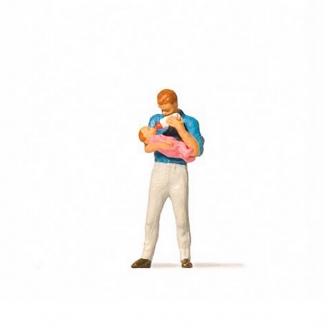 Père avec son bébé-HO 1/87-PREISER 28177