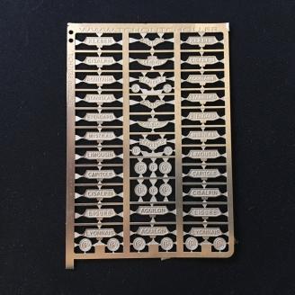 Planche de plaques pour locomotive Photodécoupe-HO 1/87-TCHOUTCHOU PHD020
