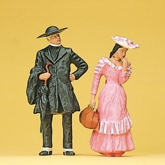 Pasteur et jeune femme-G 1/22.5-PREISER 45054