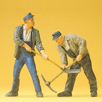 2 ouvriers des voieries - G 1/22.5 - PREISER 45007