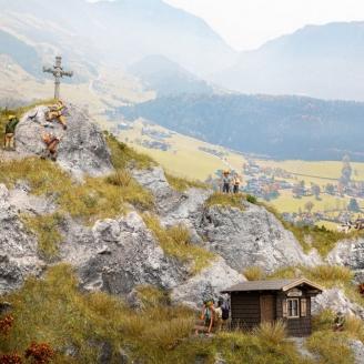Set de 6 figurines + accessoires thème Montagne-HO 1/87-NOCH 16210