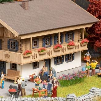 Set de 6 figurines + accessoires thème Jardin-HO 1/87-NOCH 16215