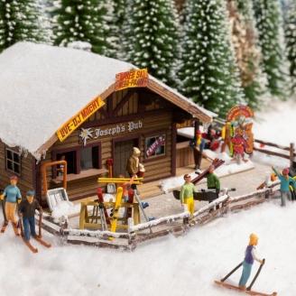 Set de 6 figurines + accessoires thème Hiver-HO 1/87-NOCH 16220