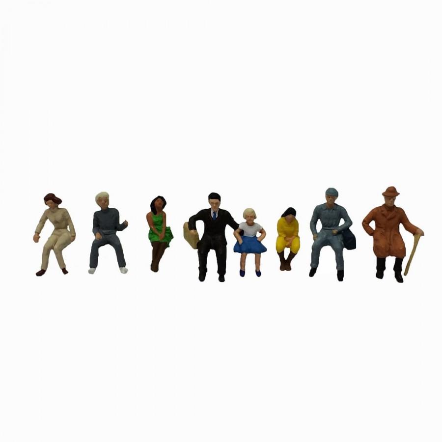 Figurine voyageurs assis époque III-HO-1/87-FALLER 150703