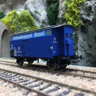 Wagon couvert K2 «ACTIENBRAUEREI BASEL» SBB Ep III-HO 1/87-BRAWA 47878