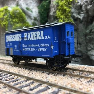 Wagon couvert K2 «BOISSONS RIVIERA» SBB Ep III-HO 1/87-BRAWA 47879
