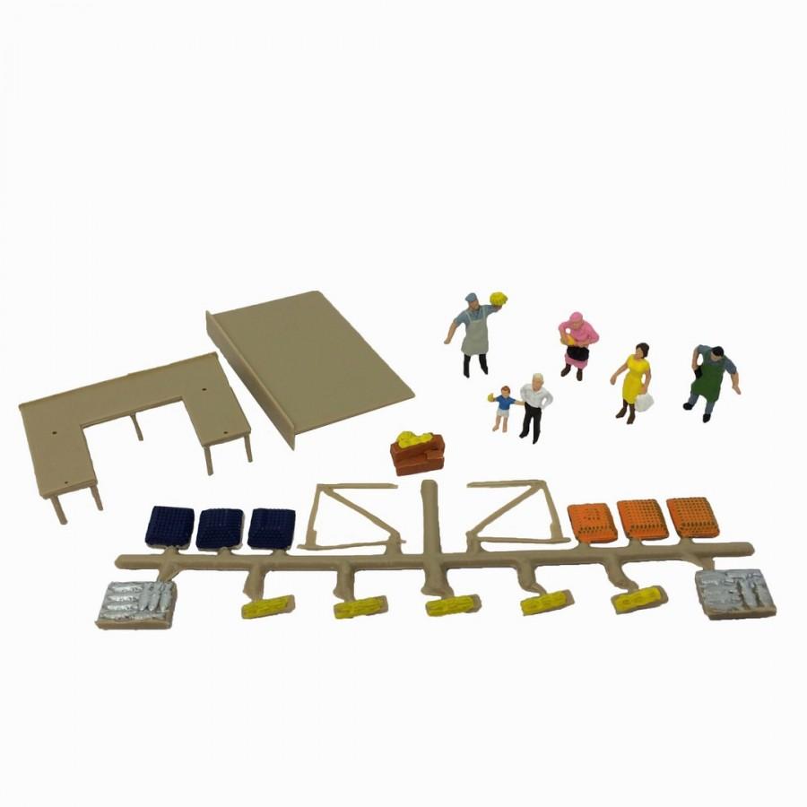 Figurine au marché-HO-1/87-FALLER 151015