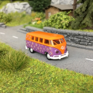 "Combi Split VW T1 ""Flowers"" Hippies 1960-HO 1/87-BREKINA 31599"