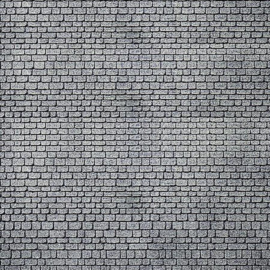 2 Plaques décoration pierre de taille grise-HO-1/87-FALLER 170805