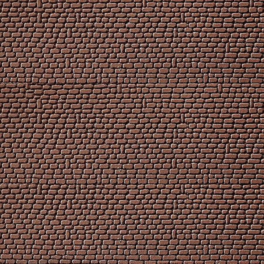 2 Plaques décoration brique grès rouge-HO-1/87-FALLER 170806