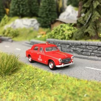 Peugeot 403 Sapeurs Pompiers Militaires 1959-HO 1/87-SAI 6222