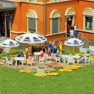 Set 6 tables et 24 chaises de jardin-HO-1/87-FALLER 180439