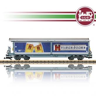 Wagon couvert à parois coulissantes Feldschlösschen RhB Ep VI-G 1/22.5-LGB 48572