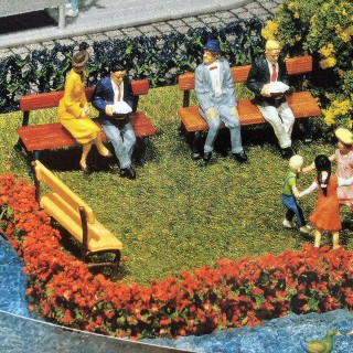 Set 12 bancs de jardin-HO-1/87-FALLER 180443