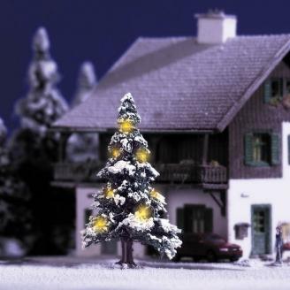 Sapin de Noël avec 7 bougies (diodes) - N 1/160 - BUSCH 5410