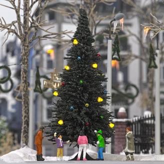 Sapin de Noël avec 7 bougies (diodes) - HO 1/87 - BUSCH 5413