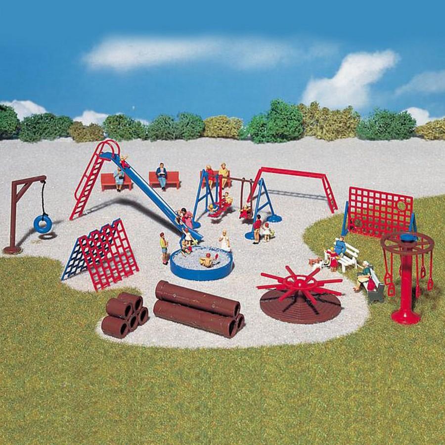 Set jeux public pour enfant-HO-1/87-FALLER 180576