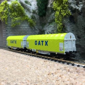 2 wagons bâchés GATX Ep VI-N 1/160-FLEISCHMANN 837931