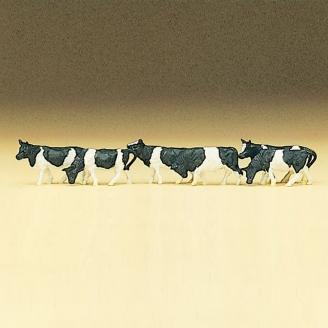 7 Vaches Noires et Blanches- Z 1/220 - PREISER 88575