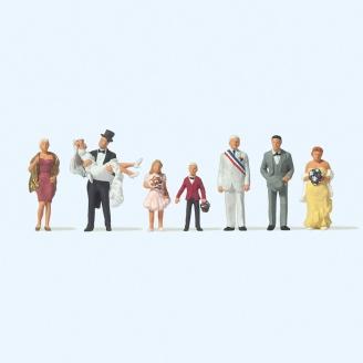 8 personnages au mariage - HO 1/87 - PREISER 10790