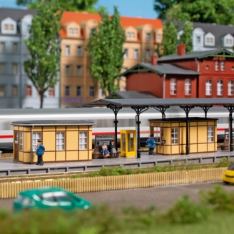Equipement et accessoires de gare-N 1/160-AUHAGEN 14484
