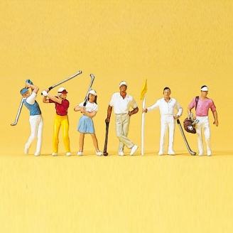 6 Golfeurs - HO 1/87 - PREISER 10231