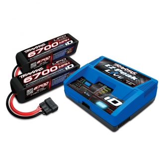 Pack Chargeur EZ-Peak Live ID + Accus 4S 6700 mAh-TRAXXAS 2993GX