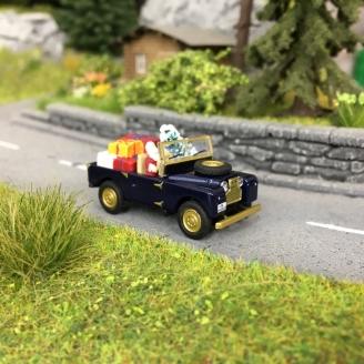 Le Land Rover du Père Noël-HO 1/87-SCHUCO 452656100