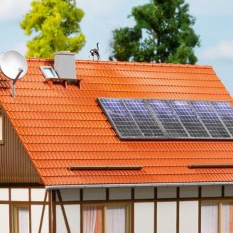 Panneaux Solaires et antenne Satellite-HO 1/87-AUHAGEN 41651