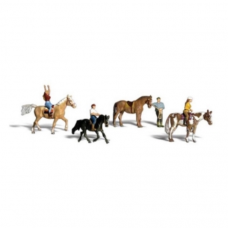 Cavaliers et Chevaux-N 1/160-WOODLAND SCENICS A2159