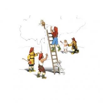 2 Pompiers en sauvetage-N 1/160-WOODLAND SCENICS A2151