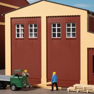 8 murs avec ouvertures de fenêtre - HO 1/87 - AUHAGEN 80531