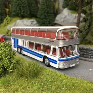 """Bus Neoplan NH22 2 étages """"Bleu""""-HO-1/87-Starline Models 58290"""