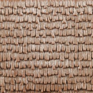 2 Plaques décor bardeaux de bois 100 x 200 mm- HO 1/87 - AUHAGEN 52228
