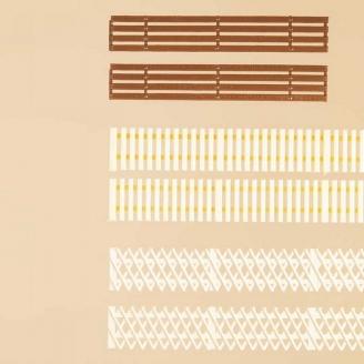 3 styles de clôtures de type bois - HO 1/87 - AUHAGEN 42557