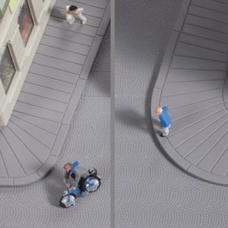 Trottoirs droits et courbes-N 1/160-AUHAGEN 44642