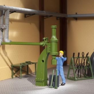 Petit marteau à vapeur-HO 1/87-AUHAGEN 80112