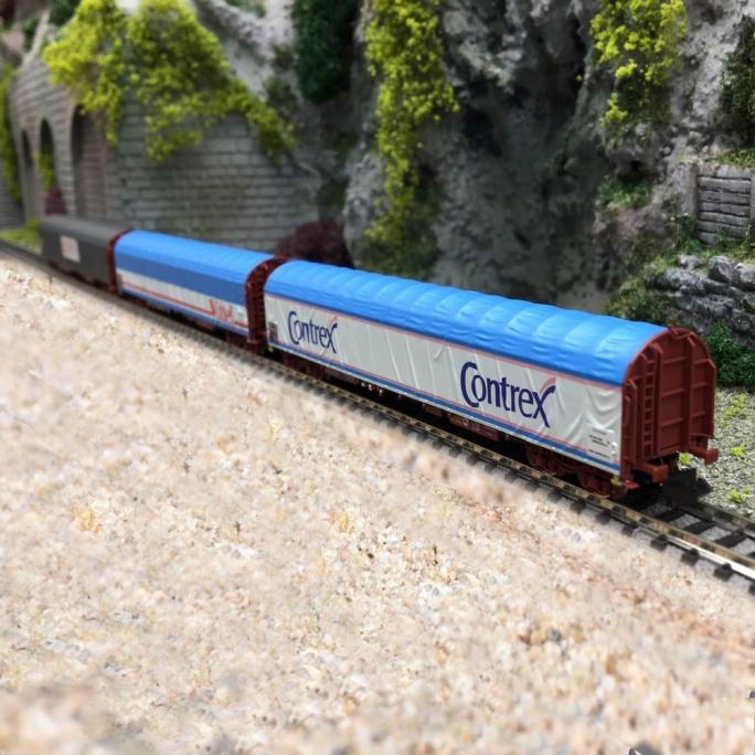 3 wagons à bâche coulissante Rils SNCF Ep V-N 1/160-MINITRIX 15375