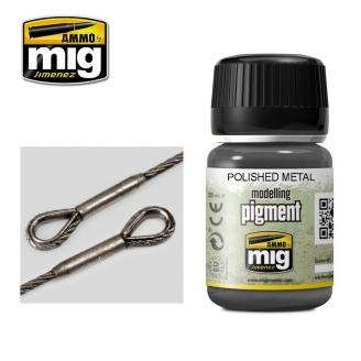 """Pigments """"Polished Metal - Métal Poli"""" - AMMO 3021"""