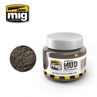 "Boue Acrylique ""Dark Mud ground - Boue sombre"" - AMMO 2104"