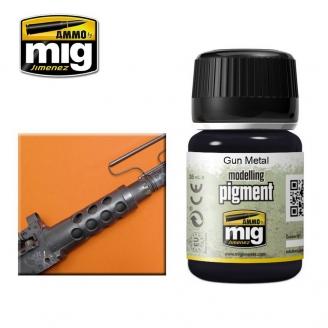 """Pigments """"Gun Metal - Métal d'Armes"""" - AMMO 3009"""