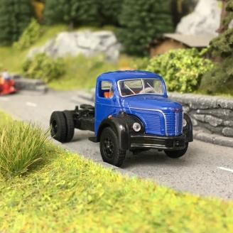 Camion Berliet TLR 8 Tracteur Bleu-HO-1/87-BREKINA 85433